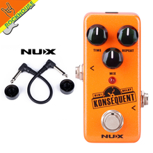 New NUX Konsequent Digital Delay Guitar Effects Pedal Digital Delay Pedal with Upgraded hardware True Bypass Free Shipping
