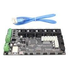 MKS Gen V1.4 impresora 3D tarjeta de control controlador de 4 capas de PCB junta mainboard integrado con cable usb para impresora 3d