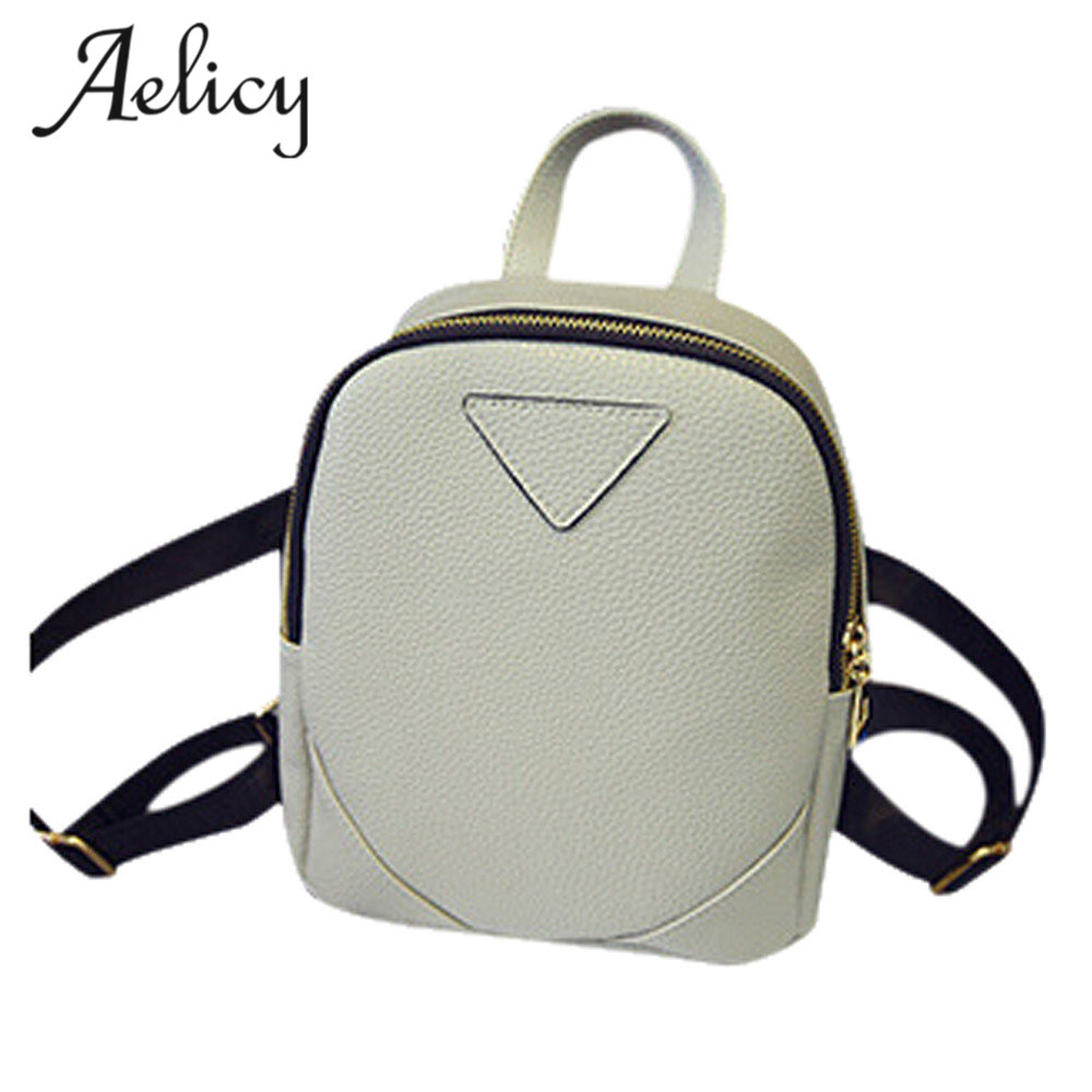 Aelicy Fashion Women Mini Backpacks Women's PU Leather Backpacks for Girls High Quality School Bag Ladies Bags Designer Bolsas melodycollection candy color pu leather mini backpack for women girls purse fashion schoolbag mini casual daypack dome backpacks