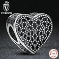 Regalo de bodas de plata de ley 925 lleno de romance encantos fit pandora pulseras y brazaletes de plata antigua joyería s267