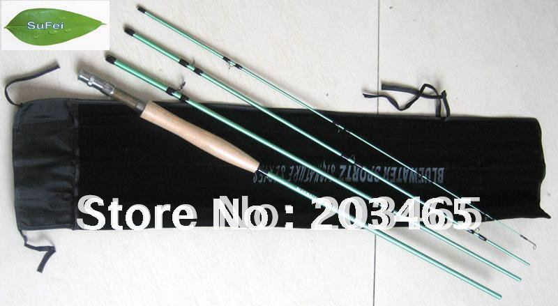 ФОТО R1 Model C.W.(5WT) Carbon Fiber Fly Rod The Length 9ft With 4 Sections Fast Action Fly Fishing Rod