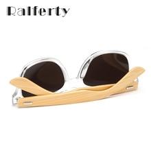 Ralferty Retro Wood Sunglasses Men Bamboo Sunglass Women Brand Design Sport Goggles Gold Mirror Sun Glasses Shades lunette oculo