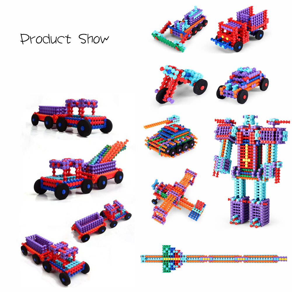 348PCS Educational Diy Assemble Building Blocks Intelligent IQ Creativity Toys Plastic Block for Kids baby wooden knock the ball down the ladder block toys assemble building block for kids child educational toys free shipping