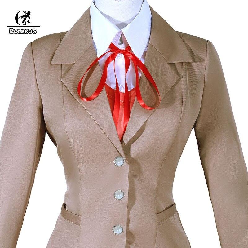 ROLECOS Doki literatura Club juego Cosplay disfraz Monika Cosplay saiori  disfraz Yuri Natsuki Cos uniforme escolar 44de26f53558