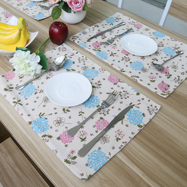 New Small Placemats for Round Tables