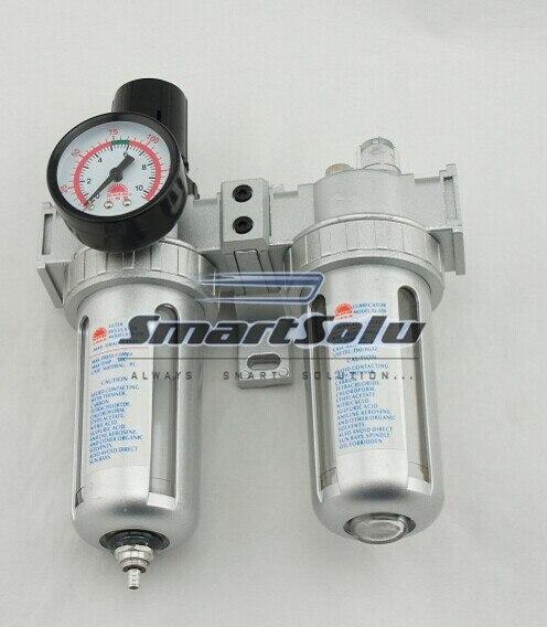 Livraison gratuite filtre à air SFC-200 PNEUMATIQUES REGULATEUR LUBRICATOR BSP tube
