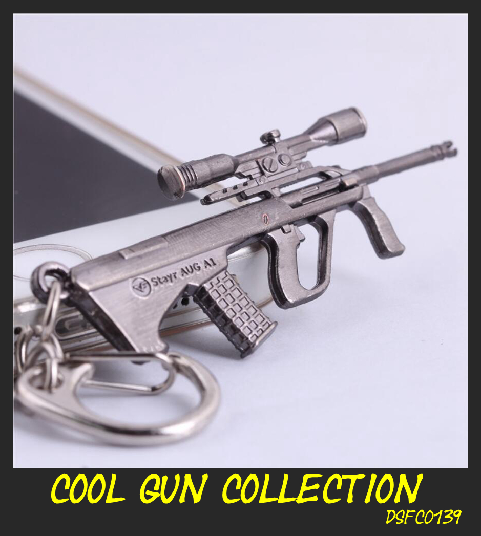 US $1 79 |[Cross Fire] Mini Gun Key Rings Steyr AUG A1 Rifle Model  Keychains Fashion Weapon Men's Cool Game Accessory Cheap Wholesale-in Key  Chains