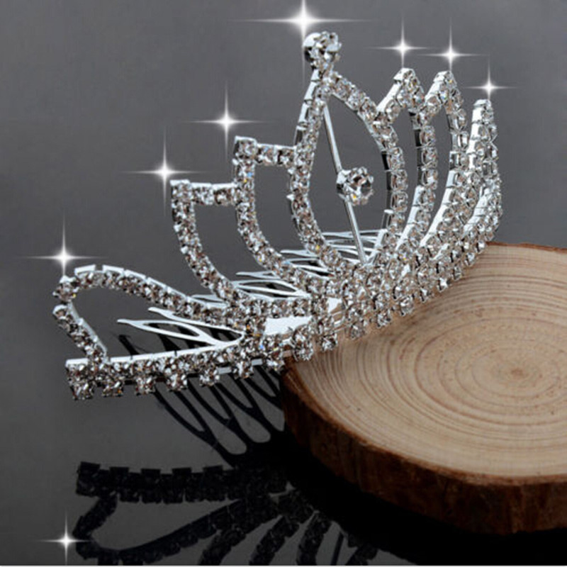 Elegante Perlas de Lujo Del Pelo de Headwear de Cristal Mujeres Corona Peinetas