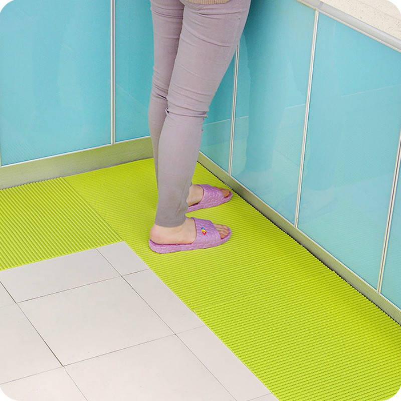 2016 1pcs Memory PVC Soft Bath Mat Bathroom Kitchen Rug General Non Slip  Bath Mats