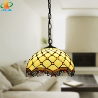European Dragon Crystal Beads Pendant Tiffany Antique Glass Network Creative Art Lamps Warm Jane Gamma Hotel