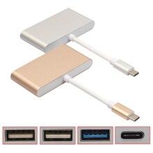 Алюминиевый Сплав 17 СМ Типа С USB-КОНЦЕНТРАТОР 3.1 до 4-портовый USB Type-C Адаптер 5 Г для Macbook И Других Цифровых Устройств