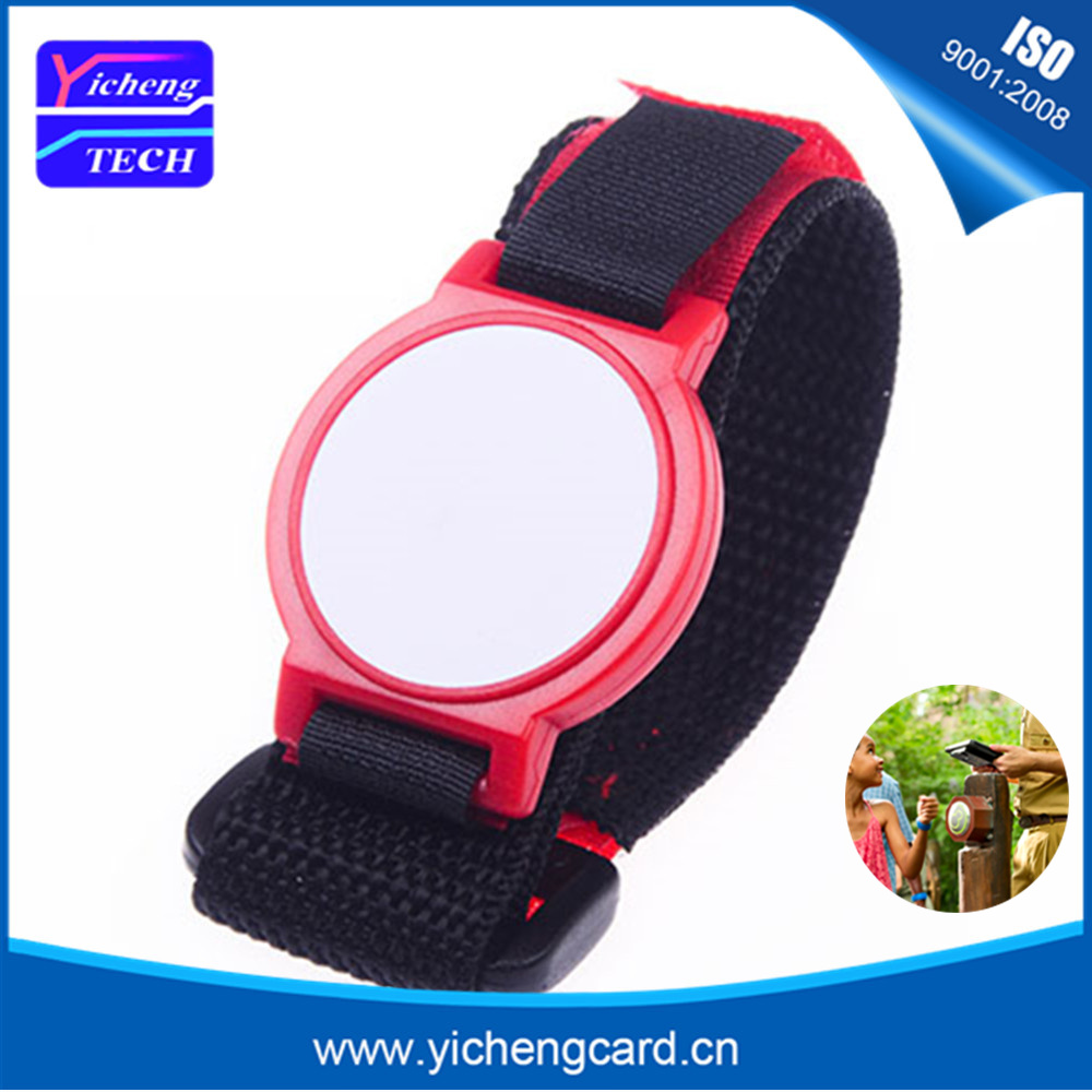 Free shipping 3pcs/lot 13.56MHz RFID Nylon Wristband Bracelet NFC tag Ntag215 Smart Proximity Card Waterproof for fast payment survival nylon bracelet brown