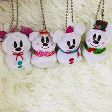 50pieces/lot 6cm cartoon mini mouse snowman Christmas style doll pendant Decoration of household car decoration gift