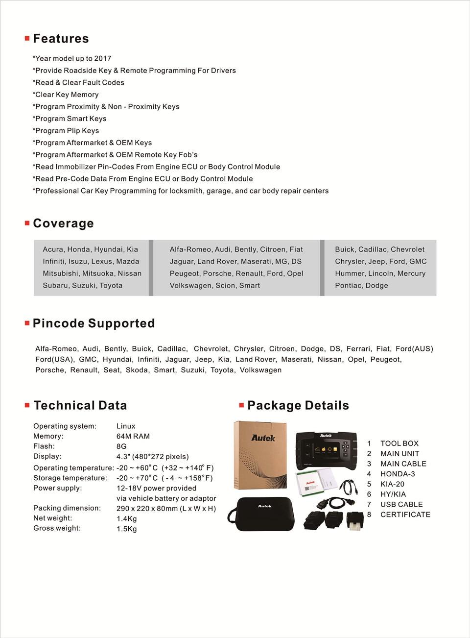 Autek IKey820 Key Programmer Catalogue-02