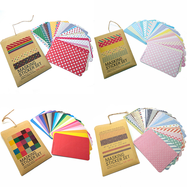 colorful scrapbooking sticker file bag sealing diary planner notebook diy decoration verbasic