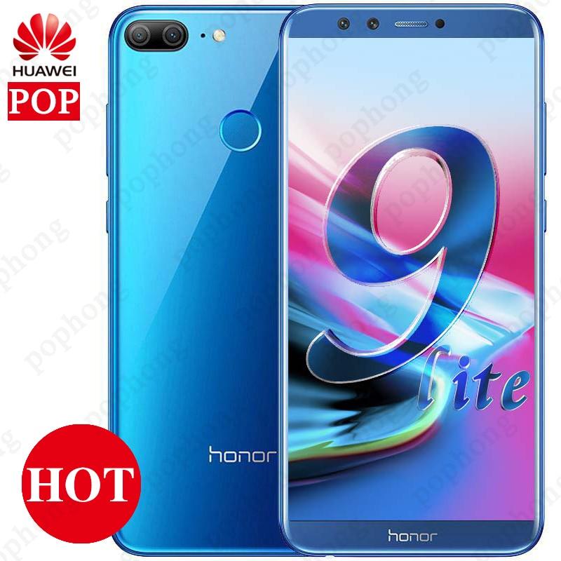 "Global Firmware Huawei Honor 9 Lite 5.65"" 2160*1080pix Android 8.0 Smartphone Octa Core 4 Cameras Fingerprint Mobile Phone"