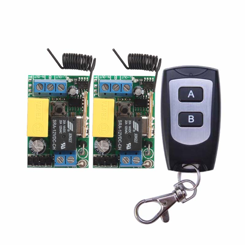High Quality New 220V 10A 1 Channel Wireless Relay Remote Control Switch RF Mini Receiver Input Output 220V ifree fc 368m 3 channel digital control switch white grey