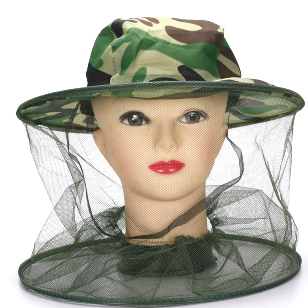 Military Hats for women Camping Hunting Camouflage Net Caps Unisex Midge Insect Bucket Mesh Outdoor Fishing Hat Protector Cap