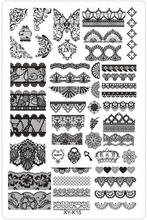 1Pc XY-K Series Nail Stamping Plates Lace Flower Plastic Nail Art Manicure Templates Stencils Salon Beauty Polish Tool 14.5*9.cm