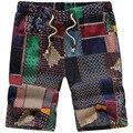 Men's Beach Shorts 2016 Summer Men's Linen Shorts Causual Loose Short Fashion Men Shorts Plus Size M-5XL 12035