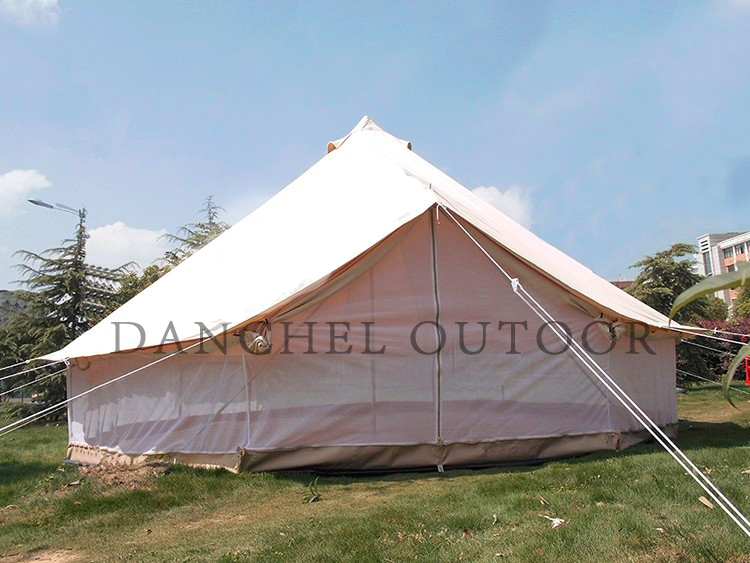DANCHEL Double layer Mosquito proof two wall bell tent, size 4m 5m danchel 4m 5m 900d oxford bell tent with top waterproof awning
