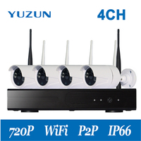 Plug And Play 4CH Wireless NVR Kit HD 720P Indoor Outdoor IR Night Vision Security IP