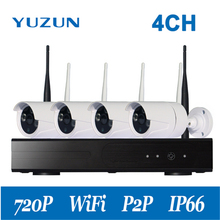 Plug and Play 4CH Wireless NVR Kit HD 720P Indoor Outdoor IR Night Vision Security IP Camera WIFI CCTV System Surveillance kit