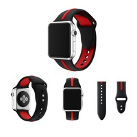 Watchbands For Apple Watch Strap 38mm 42mm Silicone Fashion Sports Watch Band For Iwatch With Connector