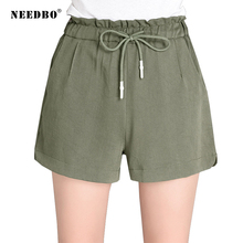 NEEDBO Shorts Women Casual High Waist Plus Size Beach New Style Fashion Short Pants Ladies Summer For 2019