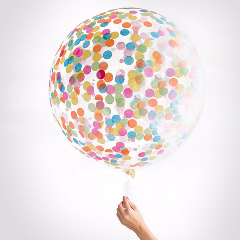 1000pcs 1inch multicolor round paper confetti balloon kit for Balloon decoration kit