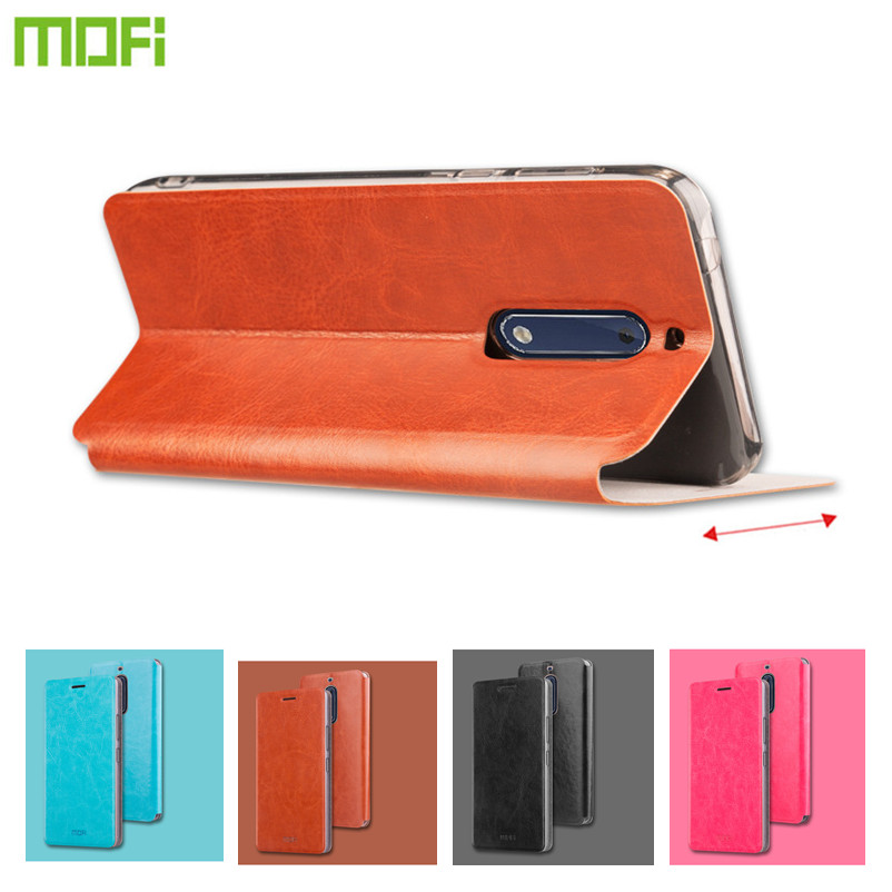 Original Mofi PU Leather Case for Nokia 5 Cover Coque Gsm Hoesjes Funda Capa Celular Stand
