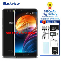 Blackview P6000 5.5inch in cell FHD Helio P25 6GB+64GB Smartphone Face ID 21.0MP Camera 4G Dual SIM Mobile Phone 6180mAh Battery