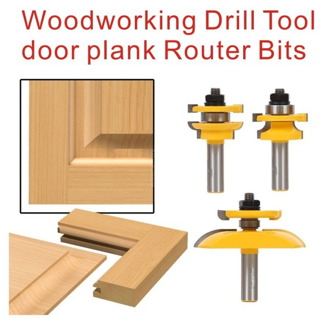 Top 3 stuks/set Houtbewerking Boor Tool deur plank Frezen Set Hout LN36