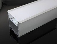 Free Shipping Big Size Surface Mounted Aluminum Profile LED Channel , Aliminyum LED Profile for ceiling lighting