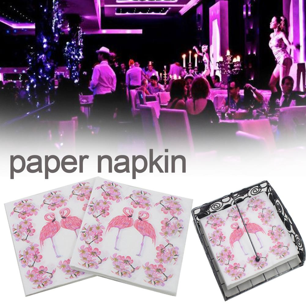 20 Stks/set Wegwerp Flamingo Print Papier Servet Restaurant Hotel Vakantie Partij Decoratie Papieren Handdoek Praktische Keuken Servet