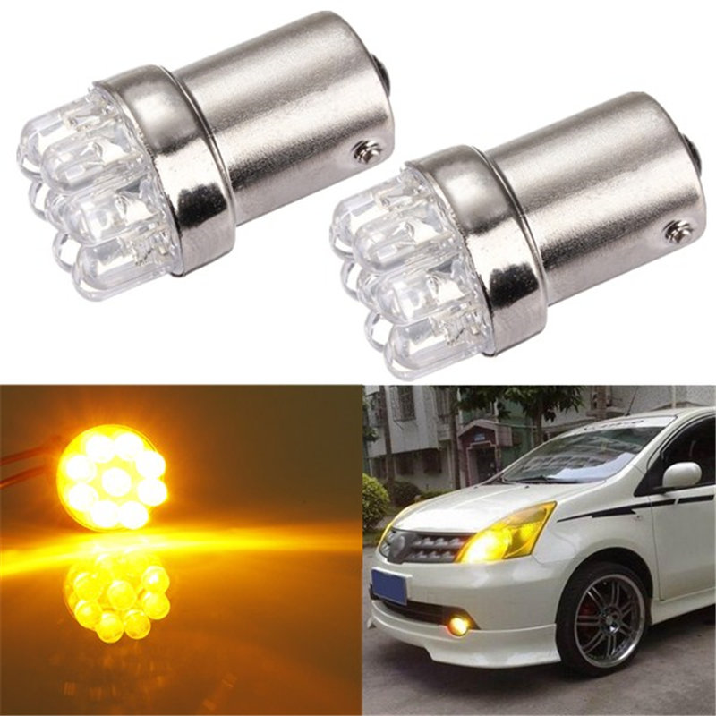 Hot Sale BA15S 1156 9 LED Car Auto Light Source Tail Brake Turn Signal Parking Bulbs Lamp P21W Amber Yellow White DC12V 24v 1x car 1156 ba15s p21w r5w auto turn signal tail brake 9 led light xenon white car bulb lamp car styling