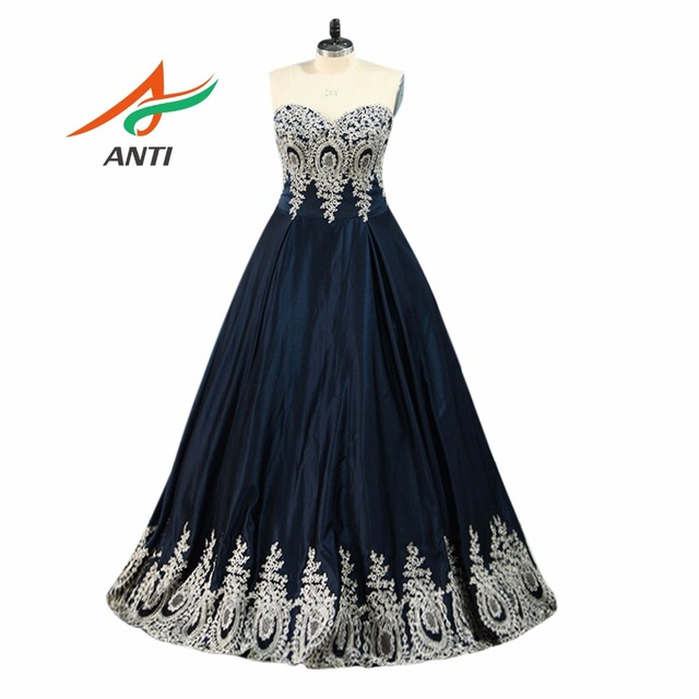 1481bc80f802 ANTI Enchanting Sleeveless Prom Dresses Pineapple Applique Evening Party  Dress A-Line Vestido De Festa Cheap Long Prom Dresses