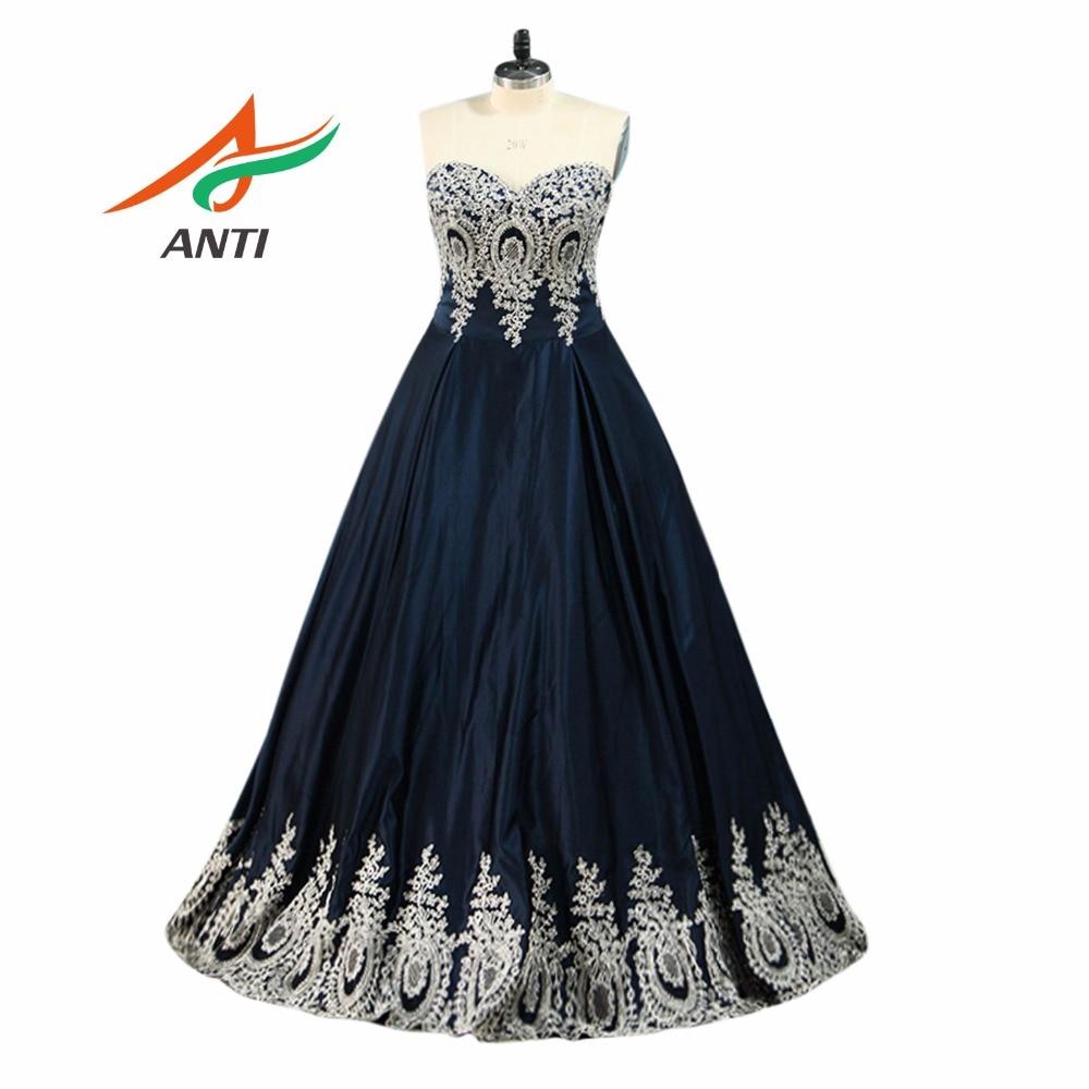ANTI Enchanting Sleeveless   Prom     Dresses   Pineapple Applique Evening Party   Dress   A-Line Vestido De Festa Cheap Long   Prom     Dresses