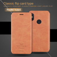 MOFi For Xiaomi Redmi Note 5 Case Flip Cover 5 99 Inch Stand Card Holder PU
