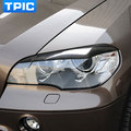 Carbon Fiber Headlights Eyebrows Eyelids for bmw x5 e70 Accessories Front Headlamp Eyebrows Car Styling