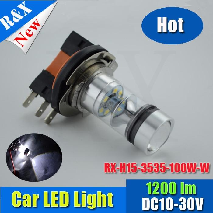 2x 12 months warranty good price h15 led fog light 3535 dc10-30v 100w car led light bulb high lumen no defective led цены онлайн