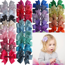 40 pcs Pinwheel Hair Bow 3.5 inch Hairbow Clips Baby Girls Accessories Headwear Boutique Dovetail clips Hairgrips