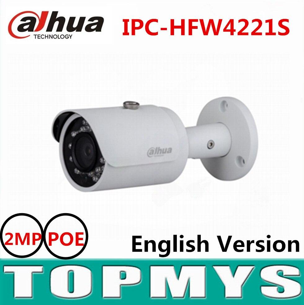 Dahua 2MP Full HD WDR Network Small IR Bullet Camera IPC-HFW4221S POE ip camera IR 30M english version CCTV security camera dahua 3mp network ir bullet camera ipc hfw1320s freeship poe original english version dh ipc hfw1320s dahua ip camera