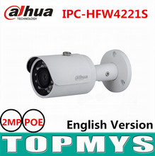 Dahua 2MP Full HD WDR Network Small IR Bullet Camera IPC-HFW4221S POE ip camera IR 30M english version CCTV security camera