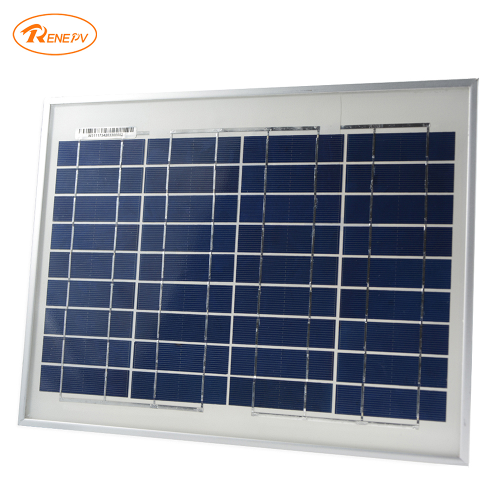 Renepv Brand 10W Solar Panel 18V output for 12 V battery power charging renepv 20w polycrystalline solar panels 18v for 12v battery power charging kit