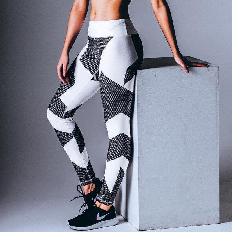 Sport Women Yoga Pants Fitness Leggings Light High Elastic Shine Leggins Workout Slim Fit Women Pants Black Jeggings Trousers 6