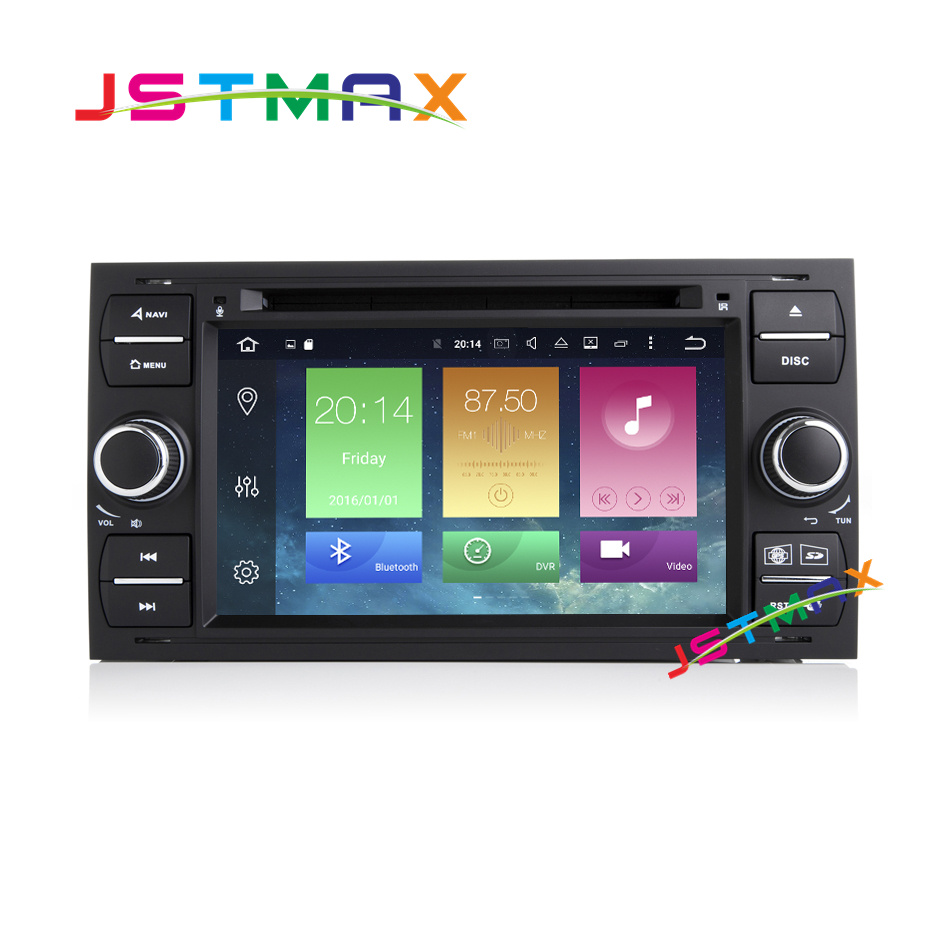 Black Android 6.0 Two Din 7 Inch Car DVD Player For Ford Old Focus/Mondeo/Kuga 8 Cores 2GB RAM 32G ROM 3G/4G Wifi GPS Radio