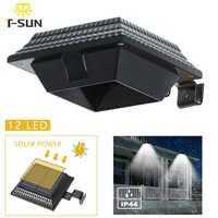 T-SUNRISE Solar Outdoor LED Gutter Licht Wasserdichte Solar Sensor Licht Schwarz LED Wand Licht Lichter Für Garten Hof