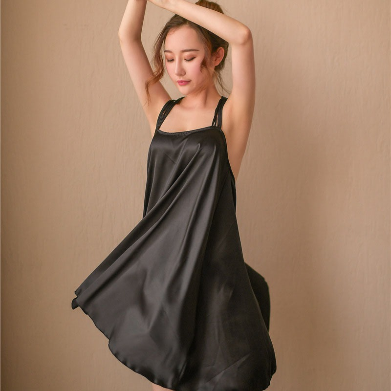 Ladies Sexy Night Dress Sleeveless Nightgown Backless Sleepwear Nightwear For Women Nightdress