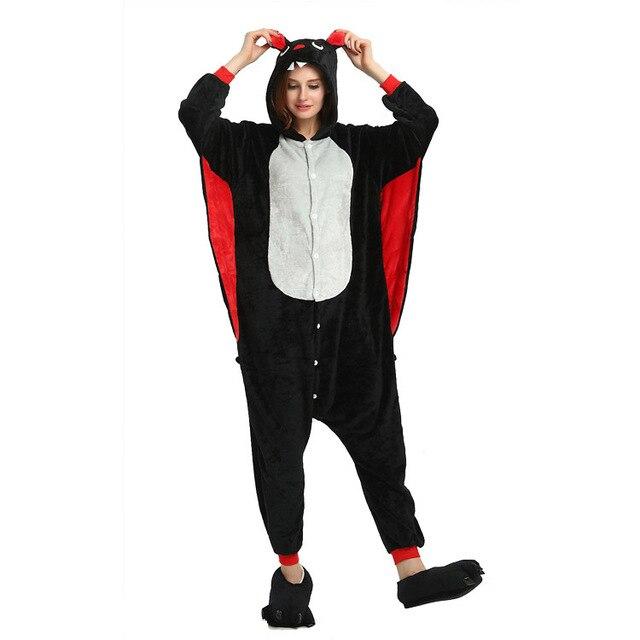 a3a8a5a05253 Cosplay Onesies Bat Kigurumi For Adult Funny Animal Pajamas Women Men Whole  One Piece Animal Pyjamas